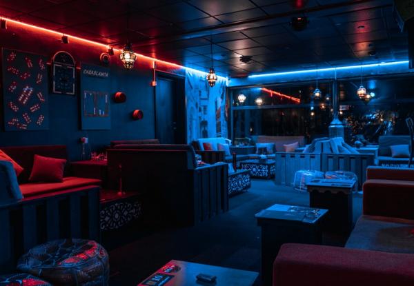 Casablanca Lounge Cafe lokaler med sofaer og hyggekroge